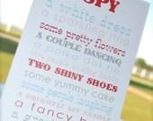 Children's I Spy Wedding Activity