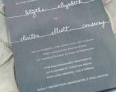 Wedding Invitation Suite Deposit (threads)