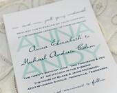 Wedding Invitation Suite Deposit (west palm)