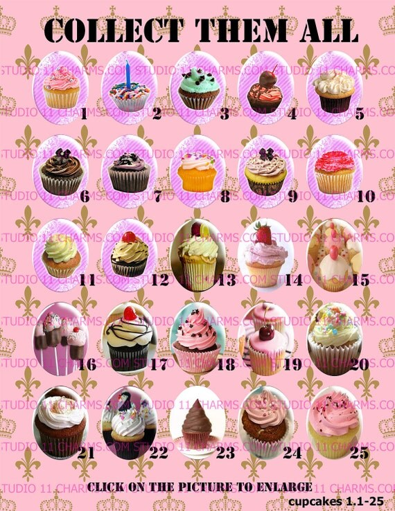 LOW DOME 40x30 or 25x18 Cupcakes Sweets Dessert Kawaii Lolita Resin Cameo Cabochons. C1-25