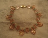 Pretty in pink and gold bracelet