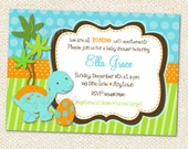 Dinosaur Baby Shower Invitations