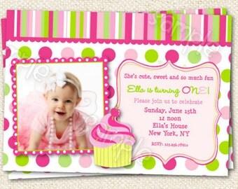 Cupcake Birthday Party Invitations