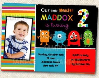 Monster Birthday invitations - DIY Printable- Monster Invitations