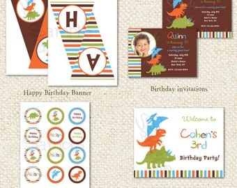 Dinosaur - DIY Printable Personalized Birthday Party Package Party Pack