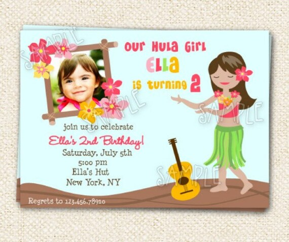 luau hawaiian birthday invitations by lollipopprints on etsy, Birthday invitations