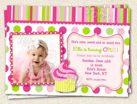 Cupcake Birthday Party Invitations – Cupcake Birthday Invites