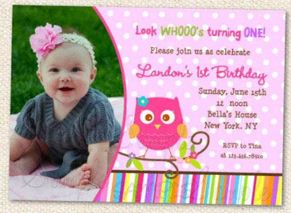 owl birthday invitations owl birthday party invitation owl, Birthday invitations