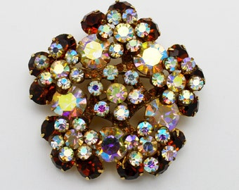 Juliana Flower Sprays Vintage Brooch by DeLizza and Elster