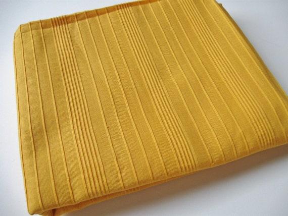 Vintage Sunny Golden Yellow Cotton  Fabric