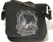 Reversible messenger bag - Illusion skull