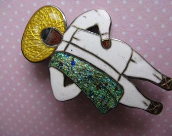 Vintage Margot de Taxco Peasant Man Brooch