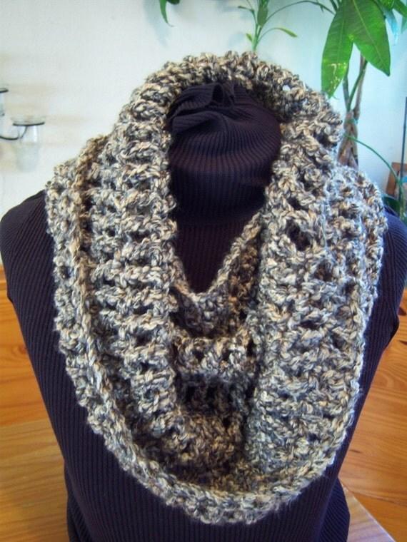 Beginner Crochet Patterns Cowl : BEGINNER Crochet Pattern Chunky Cowl circle scarf Chunky