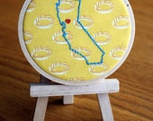 "SHOP CLOSING 8/31 // Tupac Special / Cali Love - California State Love three inch (3"") hoop scene"
