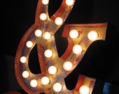 24inch distressed custom light-up marquee letter