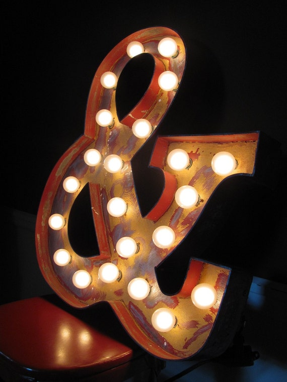 items similar to 24inch distressed custom light up marquee With custom light up letters