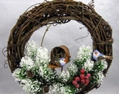 Christmas Wreath with a Bluebirds and a Rusty Mail Box 201