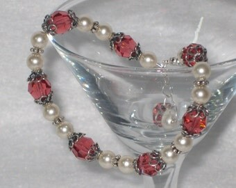 Swarovski Crystal Rambling Rose Filigree Bracelet