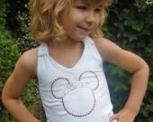 Rhinestone Princess Minnie Mouse Halter Top with Tiara