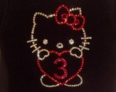 Rhinestone Hello Kitty Birthday Tshirt