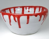 Bloody Bowl Gothic Hand Thrown Pottery Hand Painted Stoneware