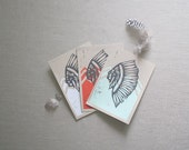 Indian Chief Note Cards - 3 Colors