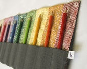 Rainbow Bicycle Pencil Roll