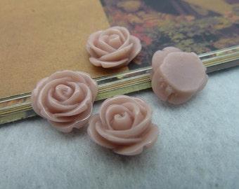 20pcs 12mm Beautiful Resin chrysanthemum Rose Flower Cameo Cabochon Base Setting Pendants Charm Pendant c5432-21