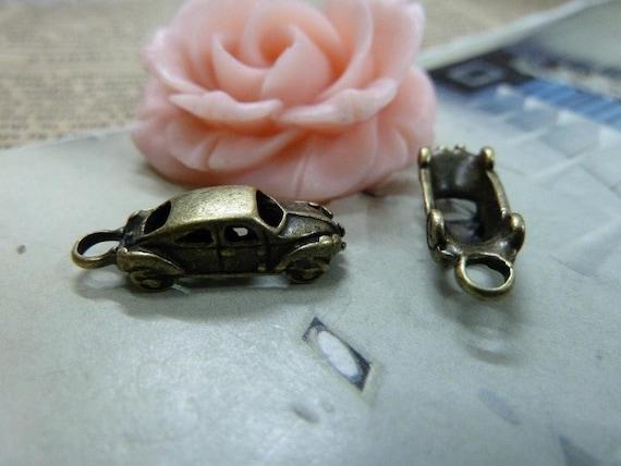 10pcs 5X8X22mm Antique Bronze Lovely Mini 3D Car Charms Pendant c1549