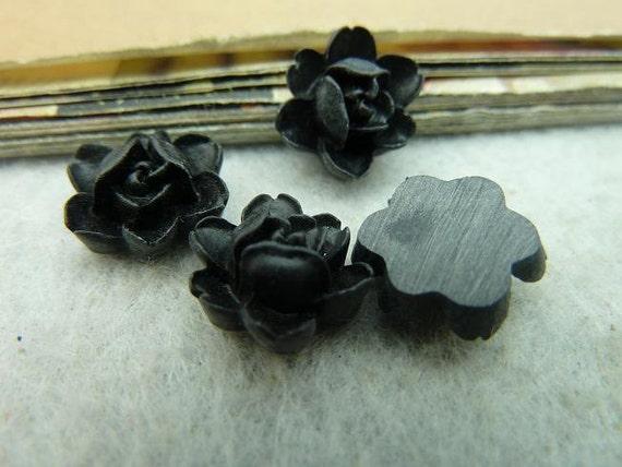 15pcs 12mm  Lovely Beautiful Resin chrysanthemum Rose Flower Cameo Cabochon  D535-3