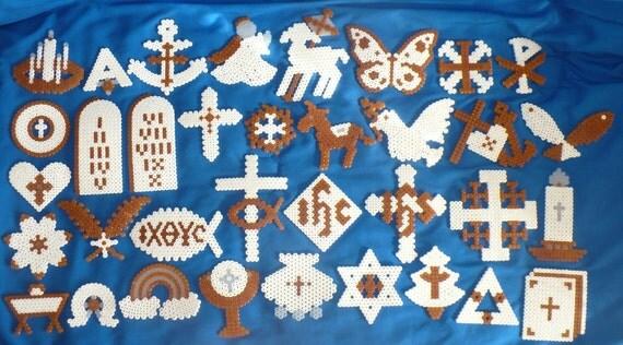 Chrismon Christian Symbols Perler Bead Ornament Set