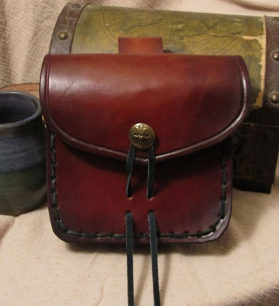 leather belt pouch heavy leather by