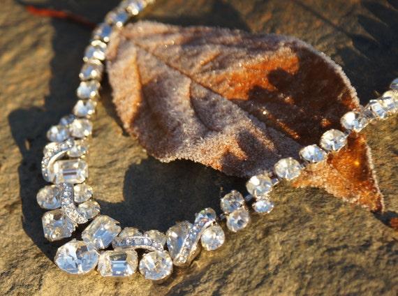 1950's Eisenberg Ice rhinestone necklace