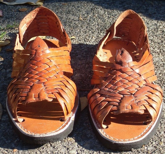 Mens Mexican Huarache Sandals 10 By Starshinevintage On Etsy