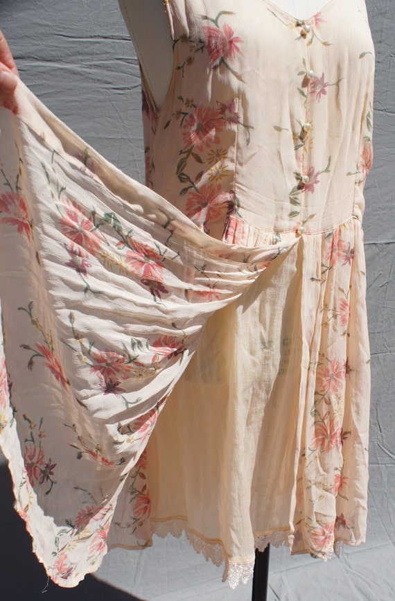 On Layaway for Kristin... Floral grunge baby doll dress layered