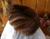 Antique Mink Hat Union Made 1940's Art Deco Clothing