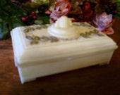 Celluloid Trinket Pin Box Vanity Collectibles Antique Art Deco Box