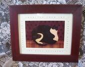 SaLe Framed Fat Cat Warren Kimble Print