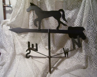 Antique Weathervane Steel Horse Old Barn Country Farmhouse Unique Handmadr Folk Art