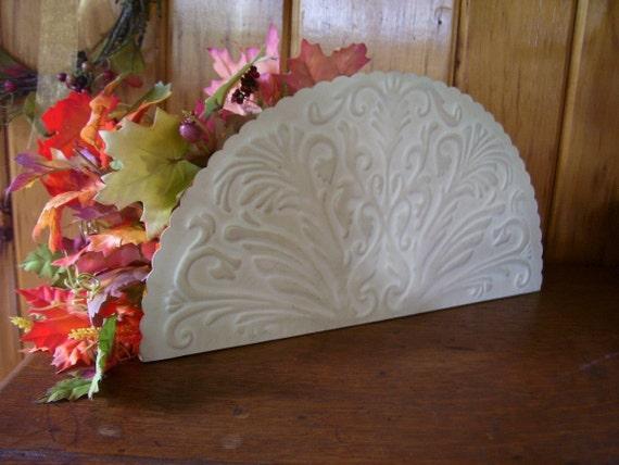 50% Off Shabby Chic Ornate Embossed TIN Flower Holder/Magazine Rack
