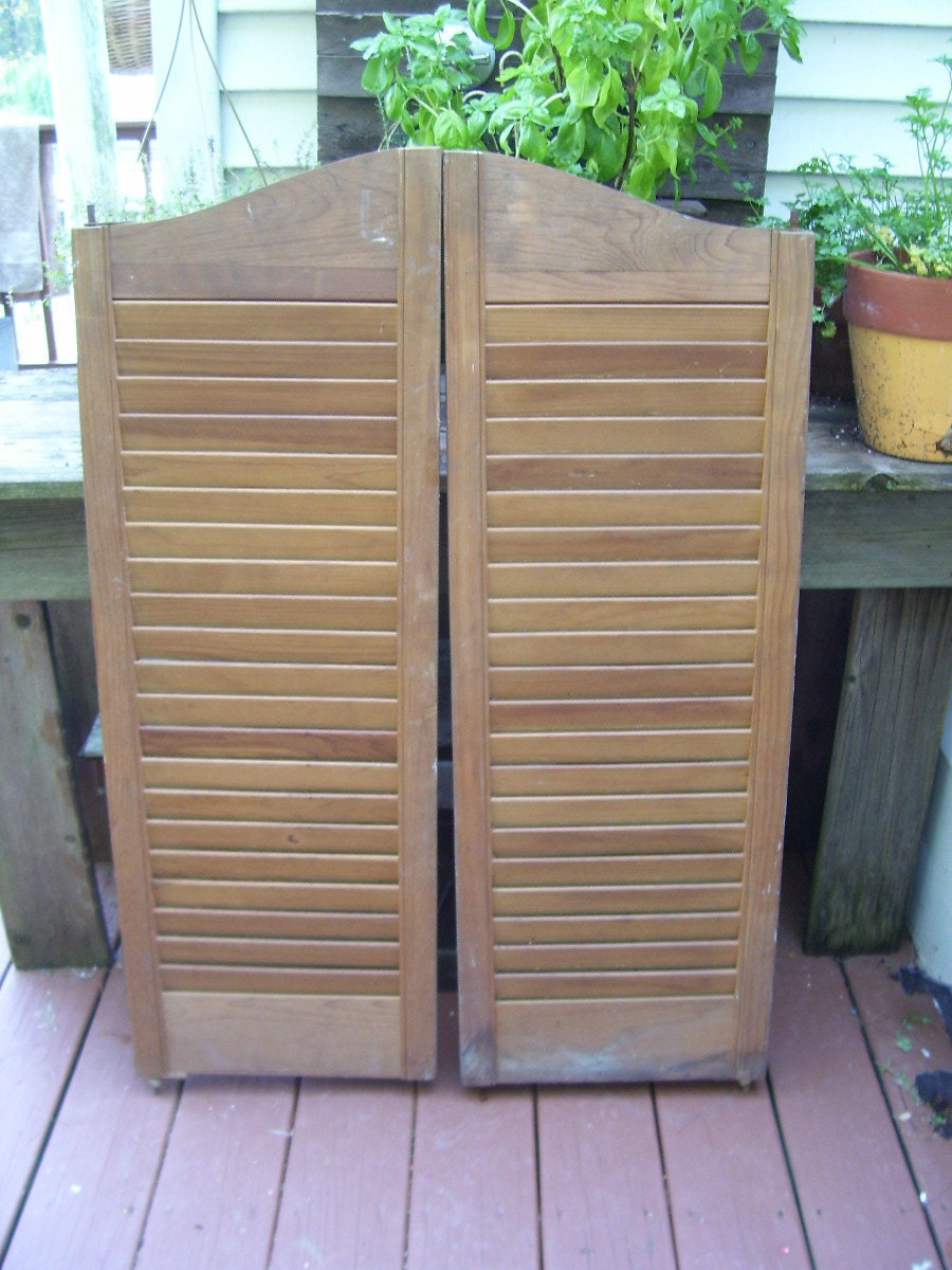 Rare Antique 1940 S Wooden Saloon Doors By Stonecottagemill