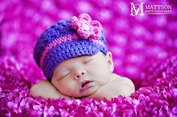 Ciao Bella Newsboy Hat with Visor Brim baby to preteen size purple fuschia pink photographer photo prop