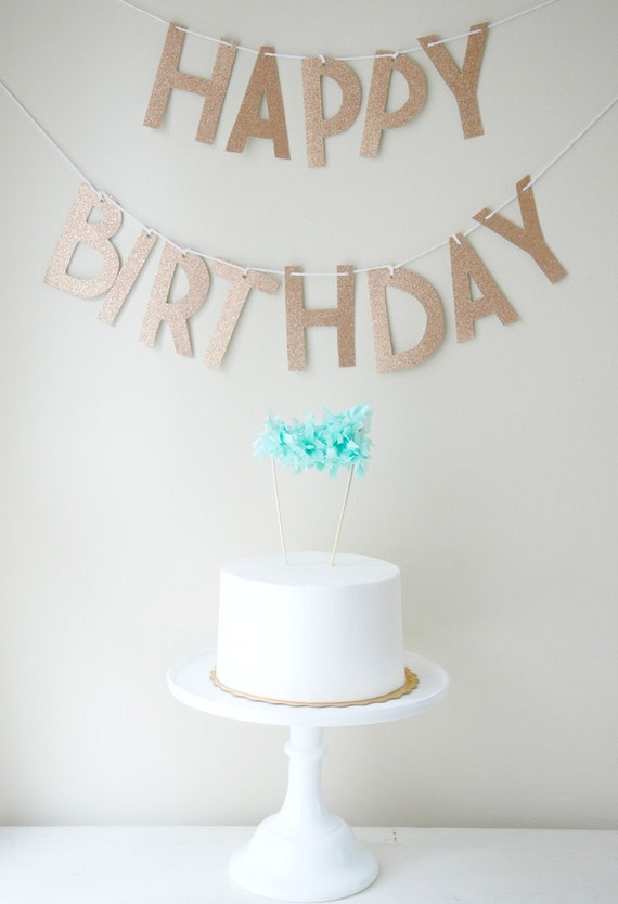 Custom Glitter  Happy Birthday Letter Garland