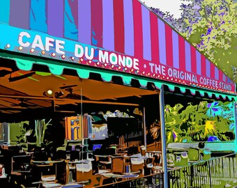 Cafe du Monde- original digital art photography 8x8