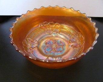 Vintage Carnival Marigold Pansy Motif Dish