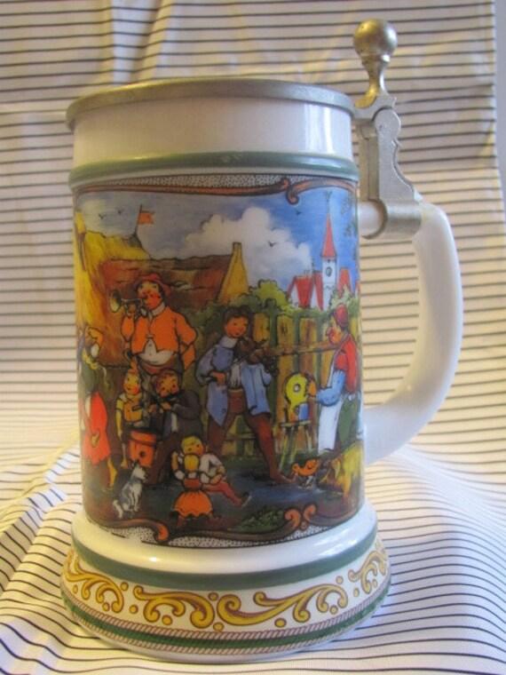 CLEARANCE    Vintage German Stein Celebrating OktoberFest
