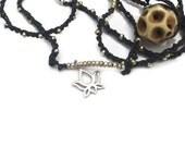 RESERVED for  Julieann Art Giveaway Do Not Buy Sterling Silver Namaste  Necklace Wrap bracelet or Anklet. TAGT