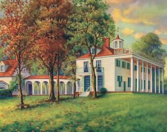 Mount Vernon Calendar Art Print