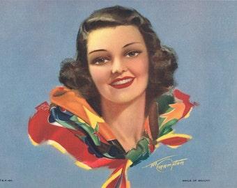 Smile of Beauty M Crampton Calendar Art Print