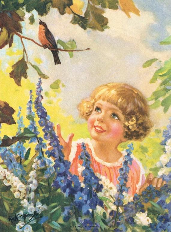 Song of Spring Hy Hintermeister Calendar Art Print